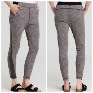 FREE PEOPLE Gray Textured Knit Pants Joggers